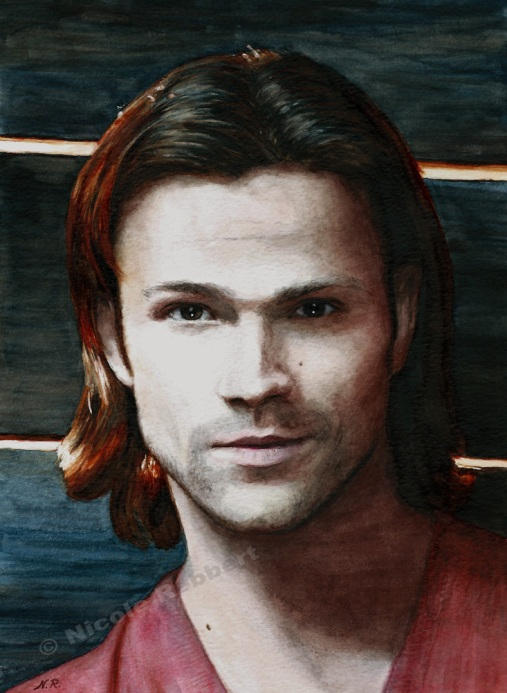 sam_winchester__watercolor__by_quelchii-d9skzai