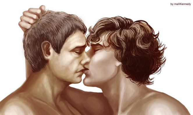 sherlock_bbc___the_kiss_by_vadeg-d4poay2