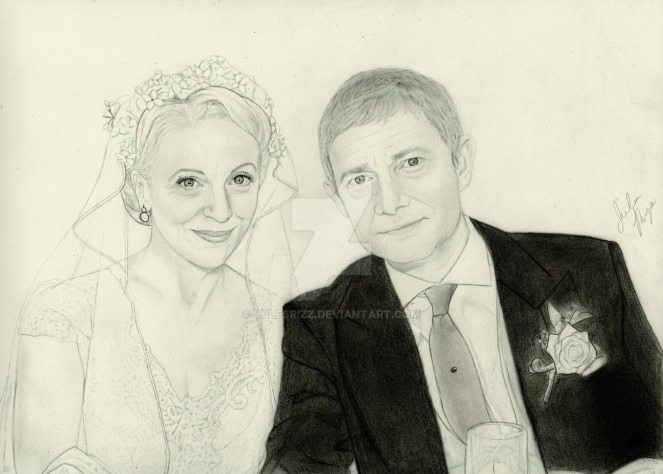 john_and_mary_watson__graphite_drawing__by_julesrizz-d8ip4sw