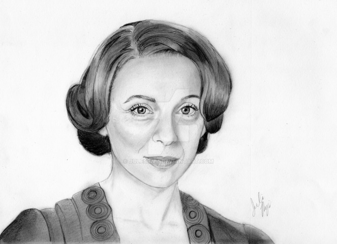 miss_mardle__graphite_drawing__by_julesrizz-d8lefri