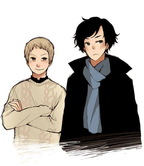 sherlock_and_his_pet_by_machomachi-d4d3yzb