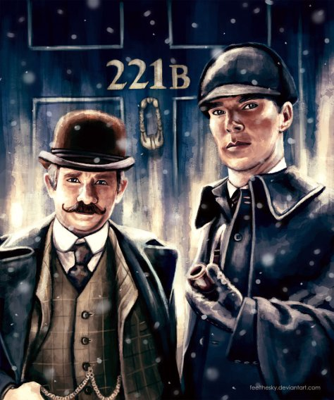 sherlock_holmes_and_doctor_watson_by_feelthesky-d9m16fo