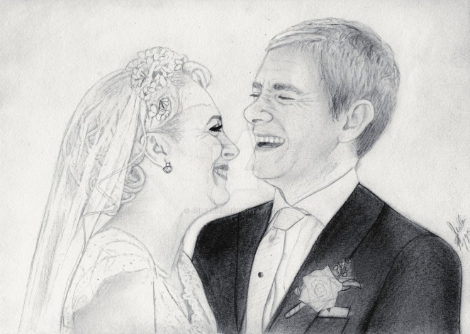 the_wedding__sherlock_graphite_drawing__by_julesrizz-d8x4mrd