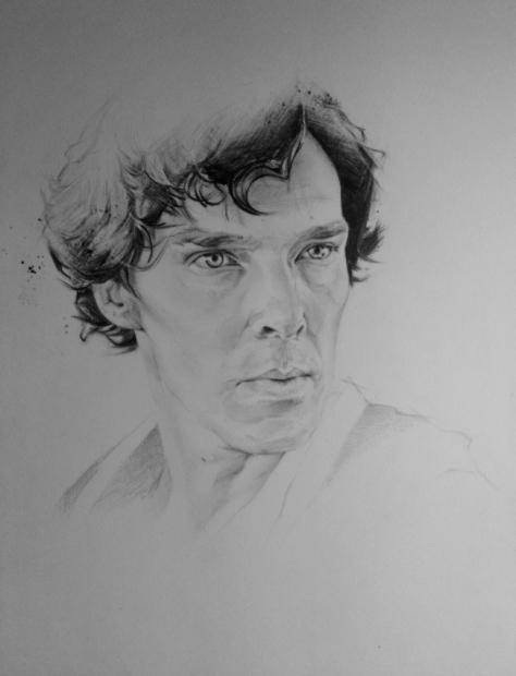 new_portrait__benedict_cumberbatch__sherlock_by_aumael-db24vs7