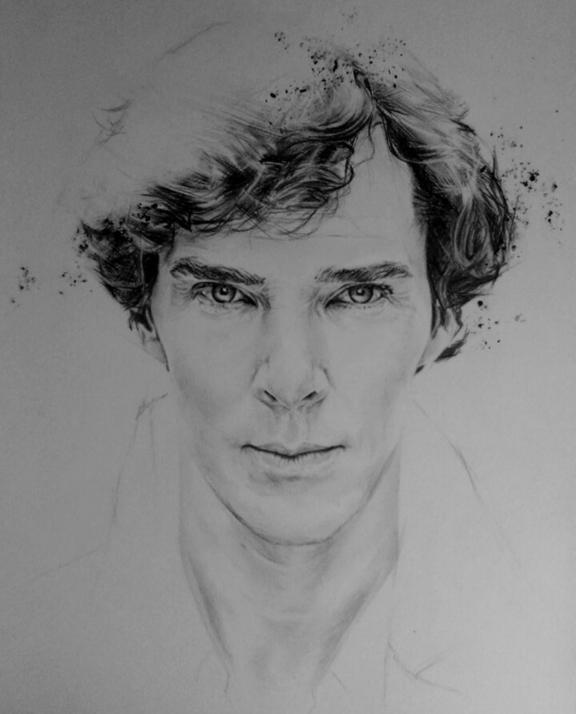 A portrait of Benedict Cumberbatch!