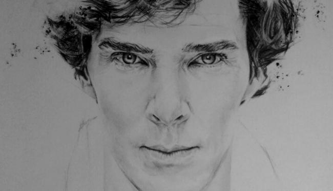 A portrait of Benedict Cumberbatch!