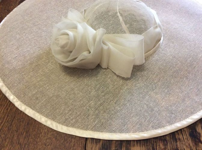 Mrs. Hudson's hat & wedding corsage!