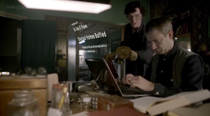 Sherlock Tunes on John's Laptop!