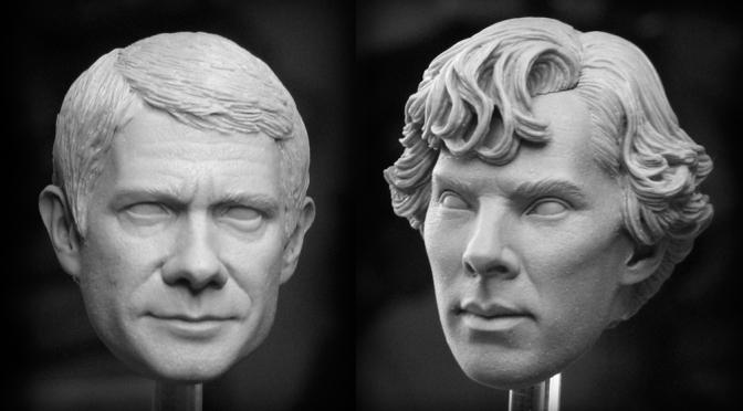 The Sculpting of Sherlock and John!