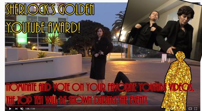 Sherlock's Golden YouTube Award!